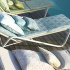 Sun lounger cushion Syracuse Aqua 60x190 Acrylic, , hi-res image number 4