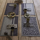 Coated placemat Slow Life Cannage Carbon 50x36 89% cotton / 11% linen, , hi-res image number 0