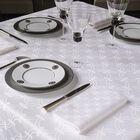 Tablecloth Anneaux White 170x170 100% cotton, , hi-res image number 0