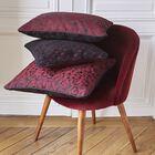 Cushion cover Estampe Plum 40x40 44%Viscose/ 38%Cotton/ 12%Polyester/ 6%Linen, , hi-res image number 1